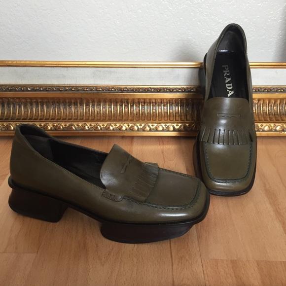 Poshmark Donna Shoes Prada Calzature Loafer Vintage Pelle Kiltie BxOTSfRwq
